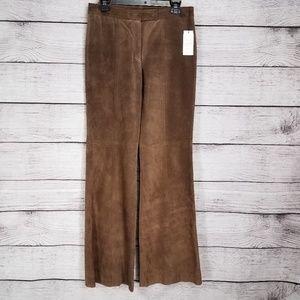NWT Etcetera Maverick 6 Leather Suede pants Flare